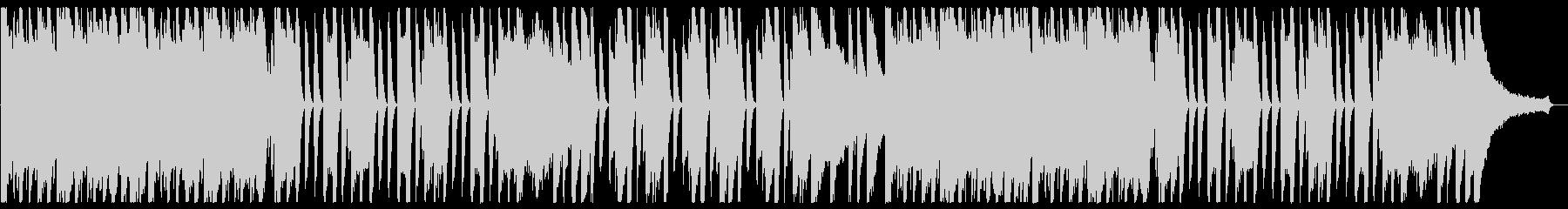 シンプルで明るくわくわくするピアノソロの未再生の波形