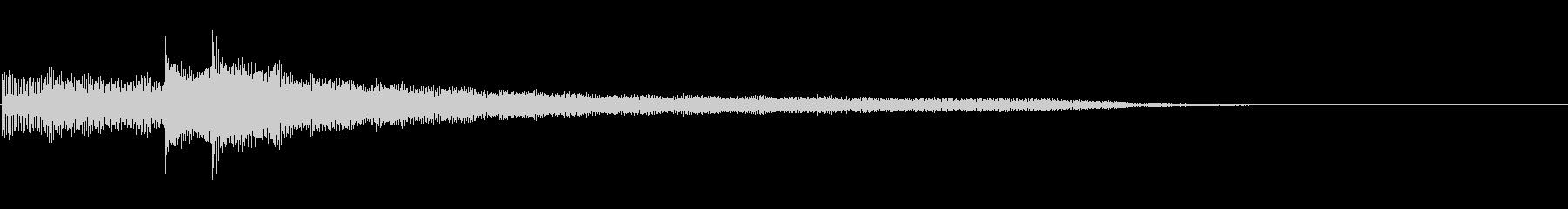 ギターによるアルペジオサウンドロゴの未再生の波形