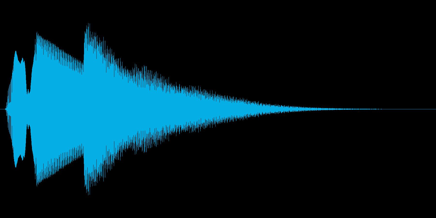 【落下音2】ひゅ〜(コミカル)の再生済みの波形