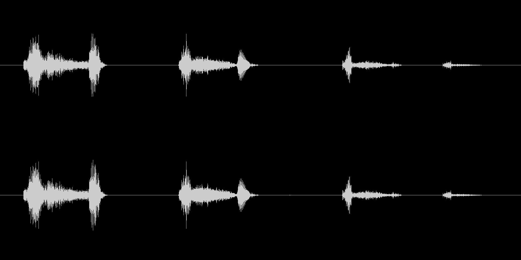 鳴き声 男性の咳のシーケンス01の未再生の波形