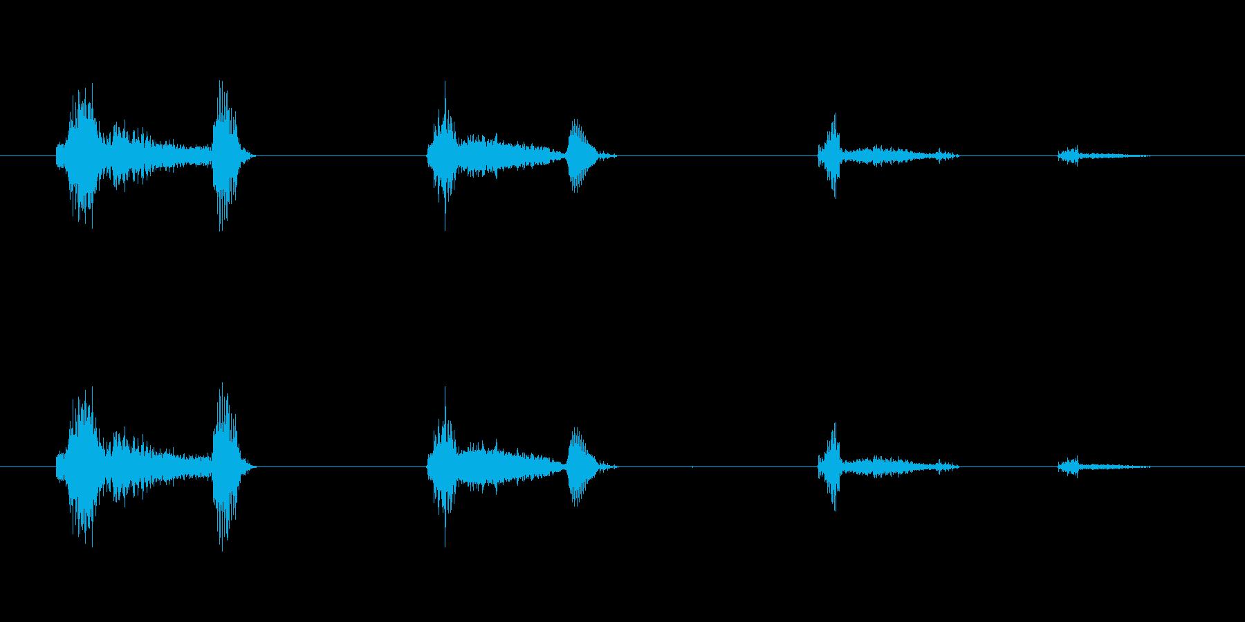鳴き声 男性の咳のシーケンス01の再生済みの波形