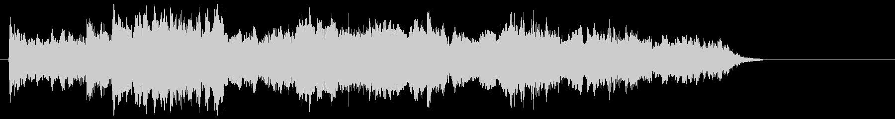 ゆったりとしとやかなピアノジングルの未再生の波形