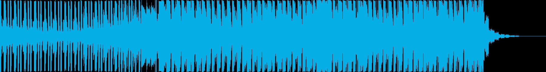 ダークで悪そうなEDMの再生済みの波形
