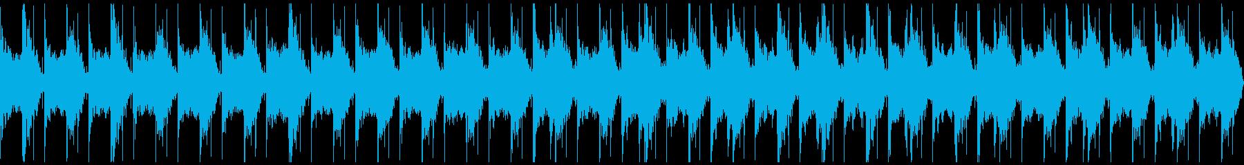 不気味で緊張感・緊迫感のあるBGMの再生済みの波形