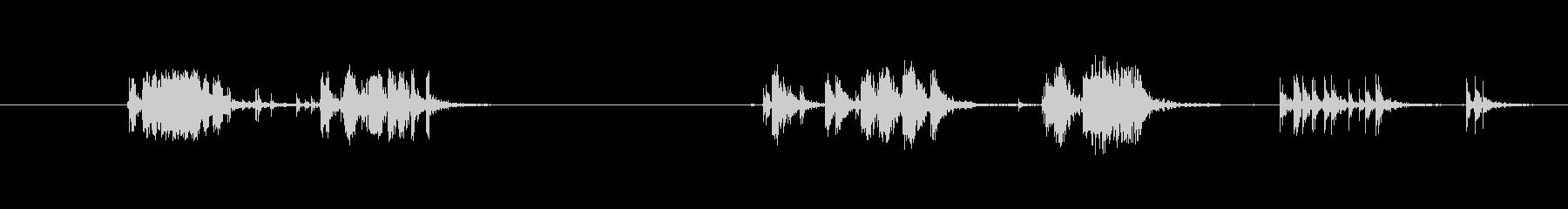 【生音】テープを剥がす音の未再生の波形