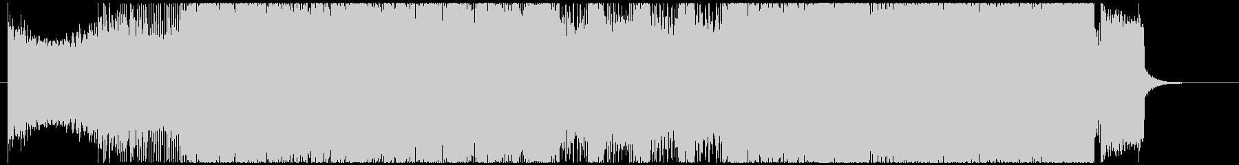 エフェクトを駆使したオープニングテーマの未再生の波形