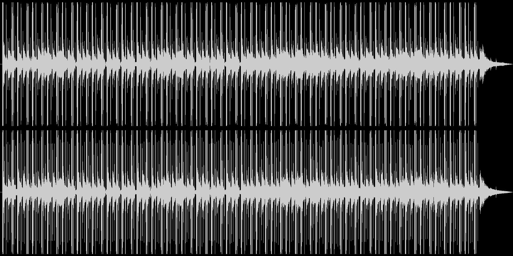 深夜のラジオの後ろで流れてるBGMの未再生の波形