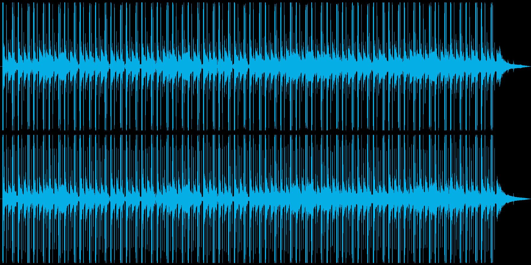 深夜のラジオの後ろで流れてるBGMの再生済みの波形