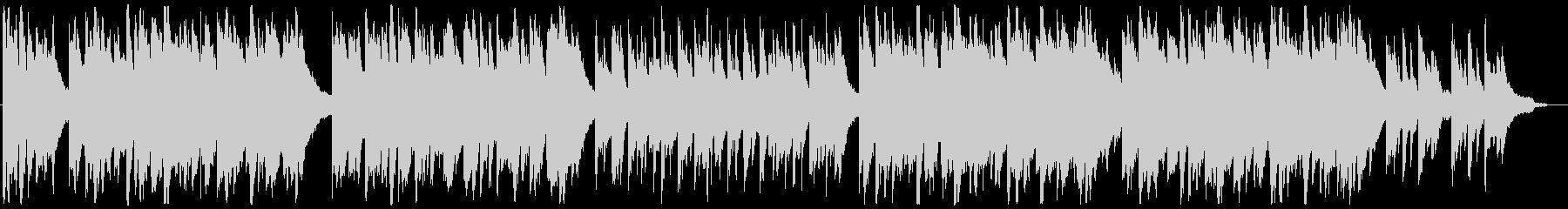 誓いの優しいピアノ曲の未再生の波形