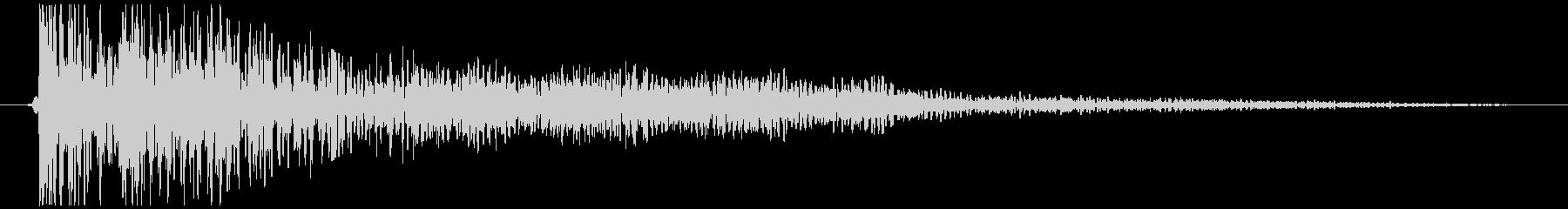 ドカン、ボン(爆発音) SE・効果音の未再生の波形