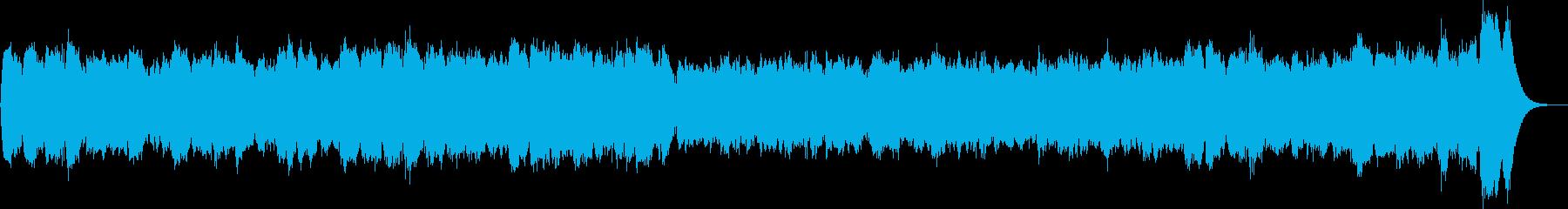 パイプオルガンのバッハのような教会用の曲の再生済みの波形
