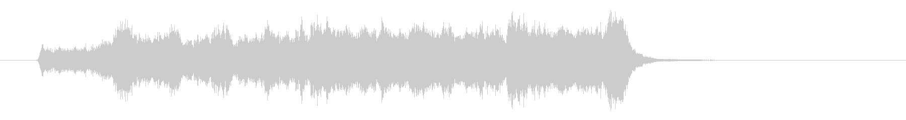 爽やかなオーケストラファンファーレの未再生の波形