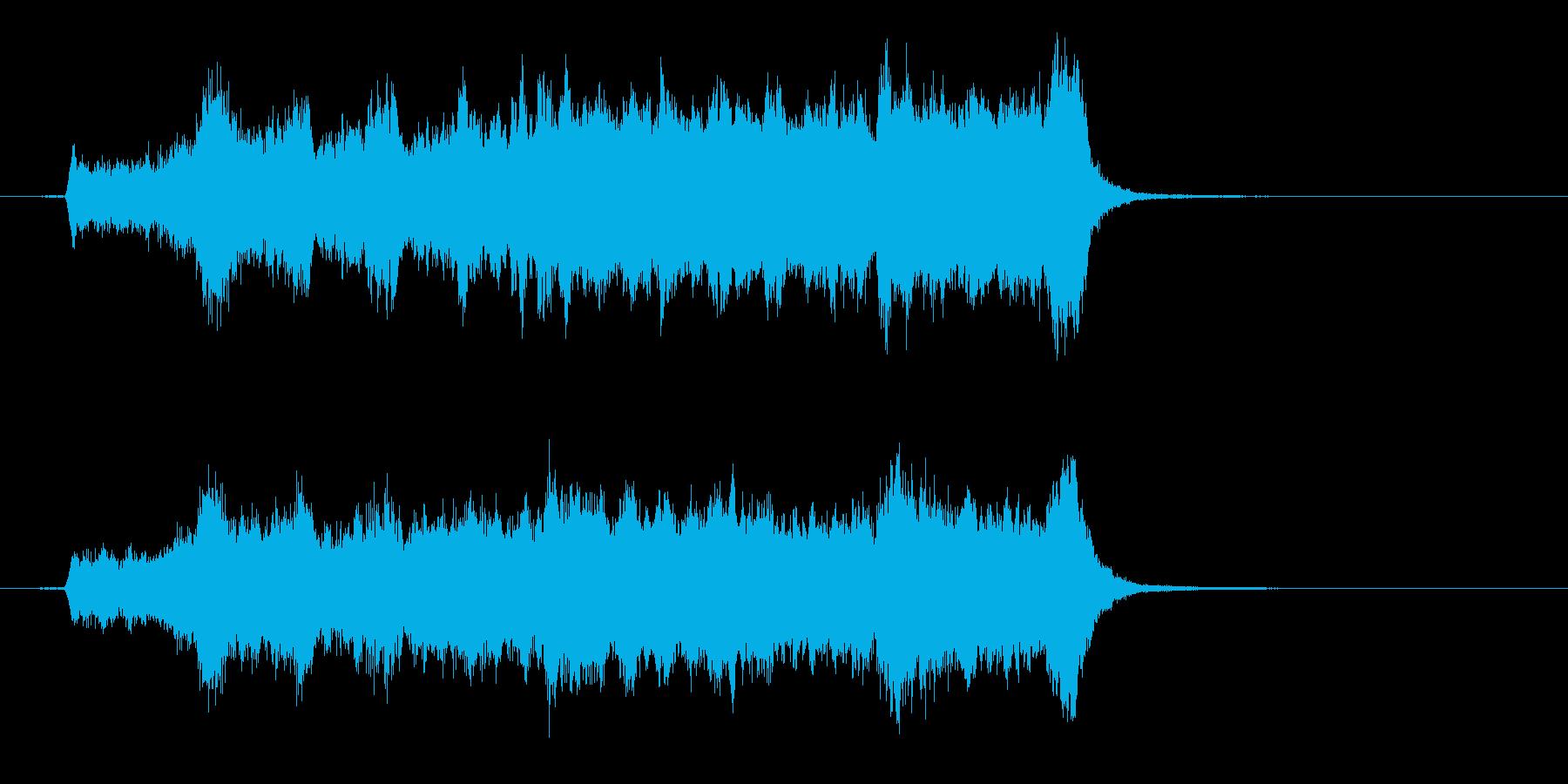 爽やかなオーケストラファンファーレの再生済みの波形