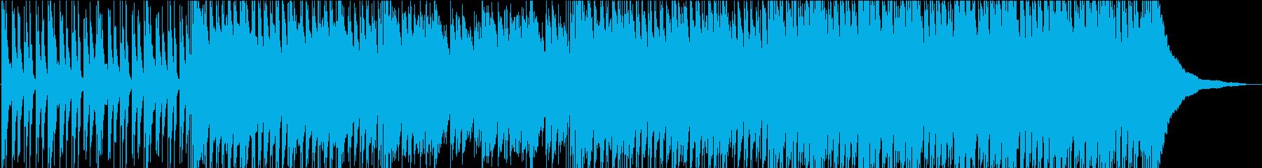明るく軽快で跳ねた感じのポップスの再生済みの波形