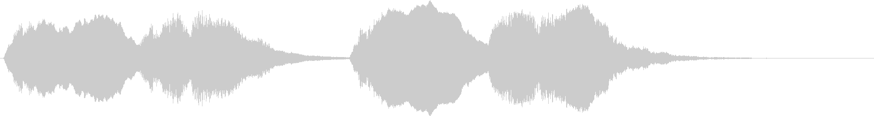 J・S・バッハ作「トッカータとフーガ …の未再生の波形