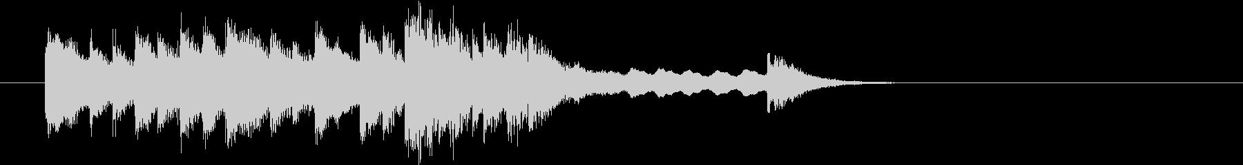 和風ジングル3 優雅な箏 笛 鈴 太鼓の未再生の波形