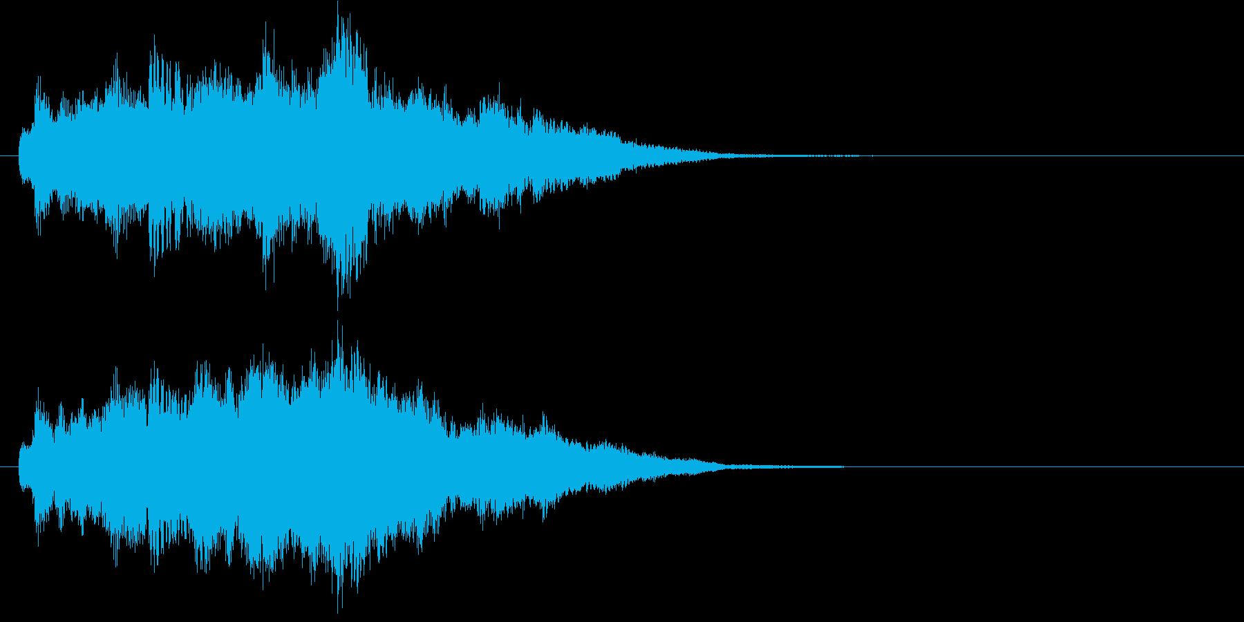 オルゴールと女声のホラー系ジングルの再生済みの波形
