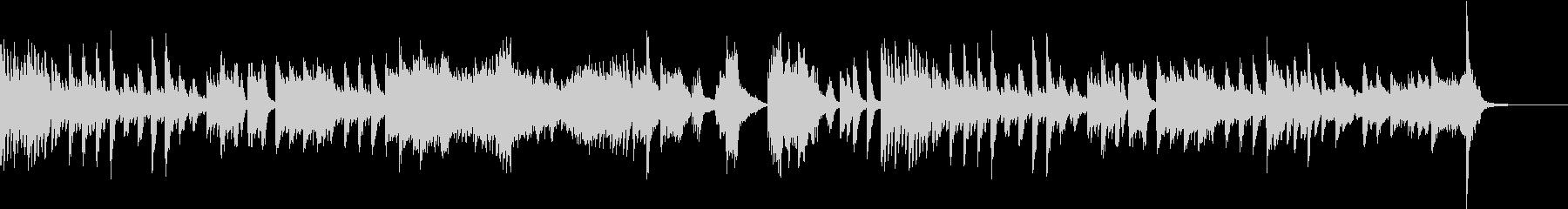 ツェルニー風ミステリアスなピアノソロの未再生の波形
