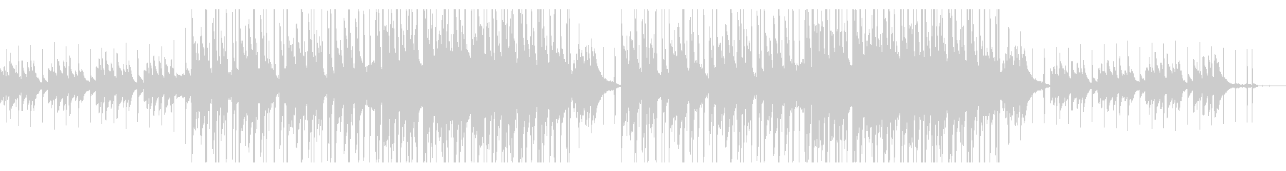 優しいピアノLOFI HIPHOP風の未再生の波形