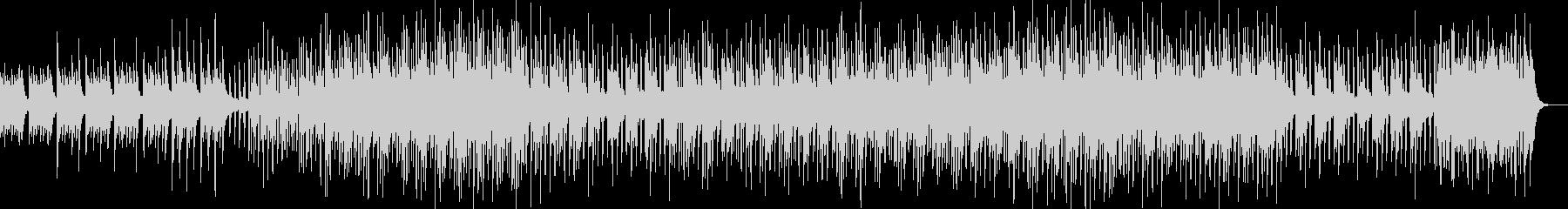 軽快で優しいミニマルなピアノ曲の未再生の波形