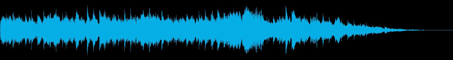 キラキラしたサウンドトラックの再生済みの波形