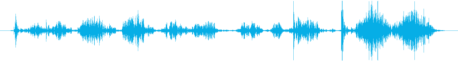 ボールペンで サインする音の再生済みの波形