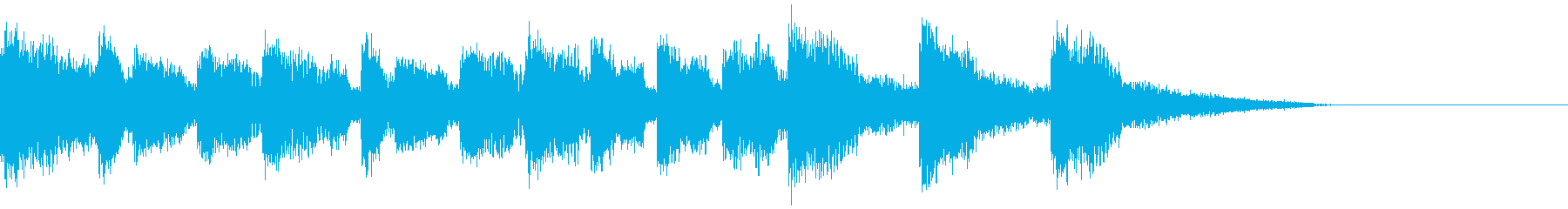 インパクトのあるジングルの再生済みの波形