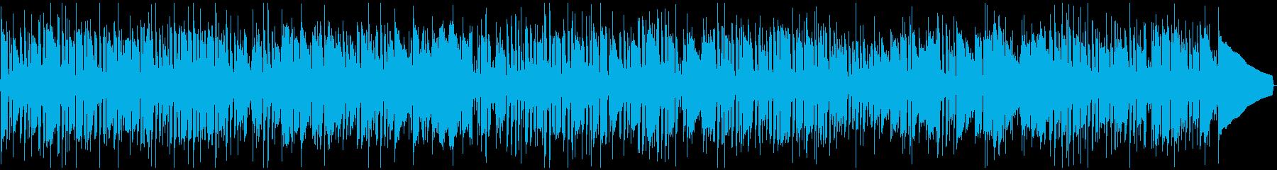 しゃれたジャズロックBGMの再生済みの波形