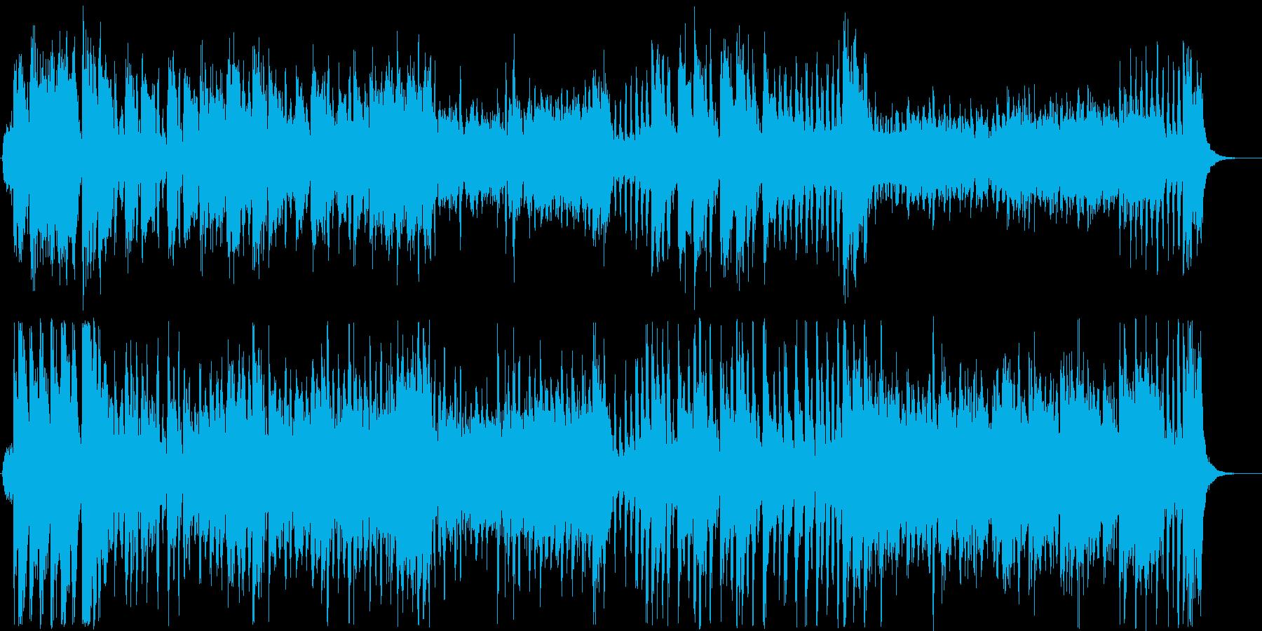 アップテンポのベル混じりのシンセサイザーの再生済みの波形