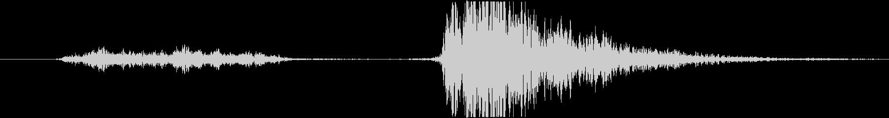 漫画的影響;パンチシューッという音...の未再生の波形