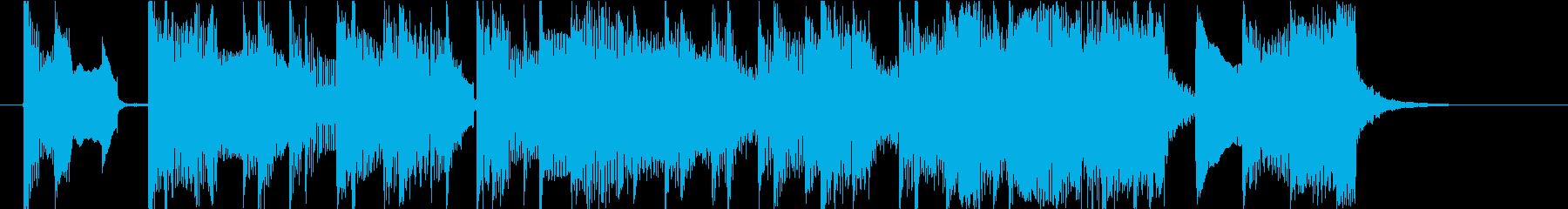 15秒CMサイズ のんびり ゆったりの再生済みの波形