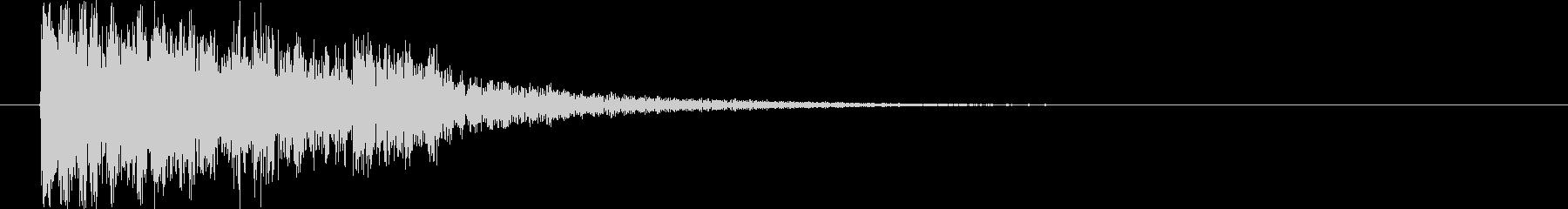 オーケストラサウンドロゴの未再生の波形