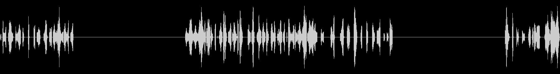 ロボットチャット、3つのバージョン...の未再生の波形