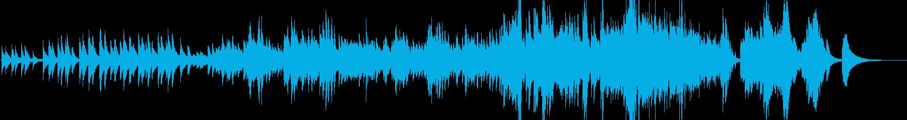 哀愁を感じるピアノ曲の再生済みの波形
