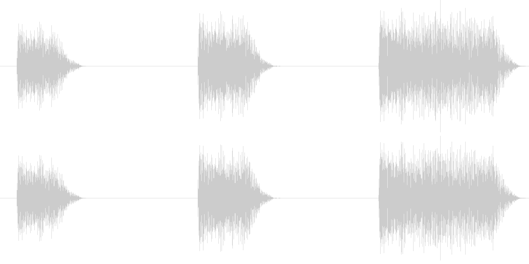 ガッガッガーッ (星人の声)の未再生の波形