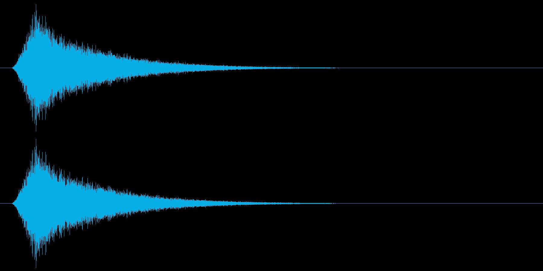 カットイン/シュー/場面転換の再生済みの波形