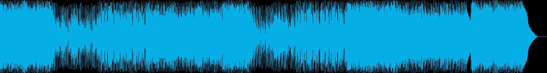 夜な感じのロック、バラードインスト曲の再生済みの波形