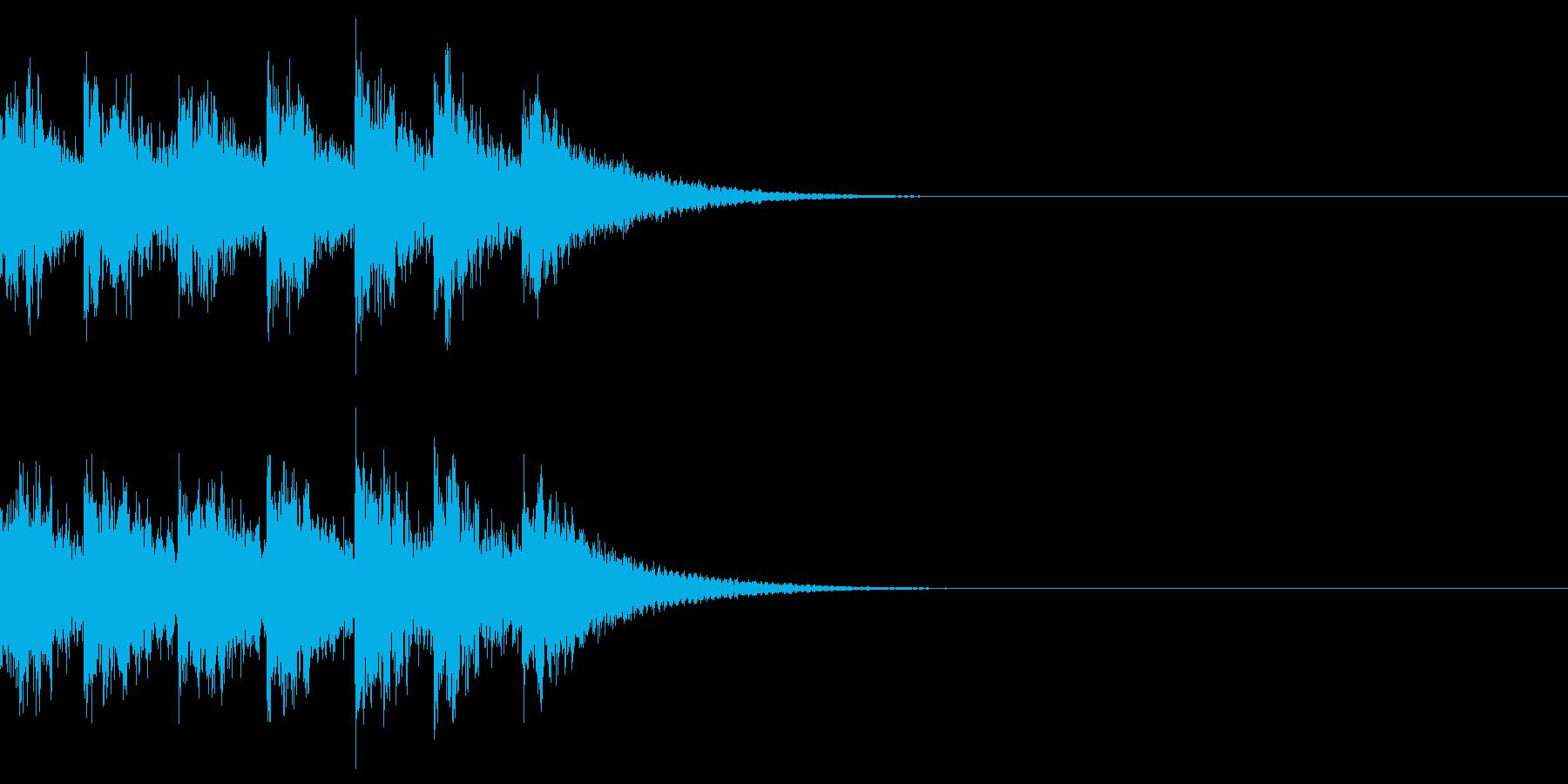 ベル アナウンス 時報 案内 お知らせHの再生済みの波形