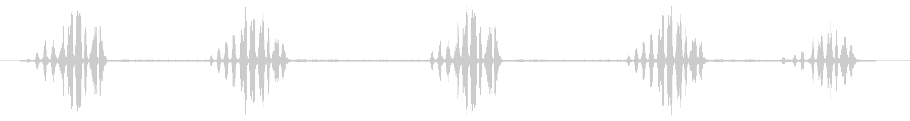 熱帯のモッキンバード:呼び出し、重...の未再生の波形