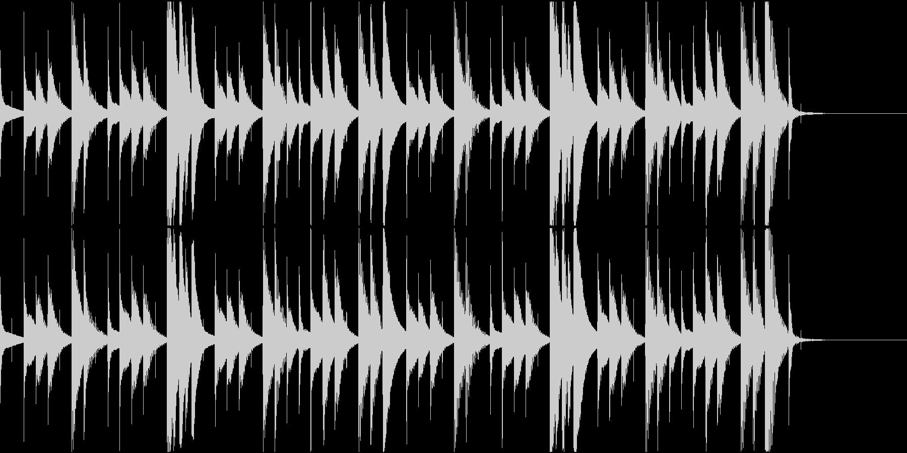 マリンバのほのぼのとしたジングル6の未再生の波形