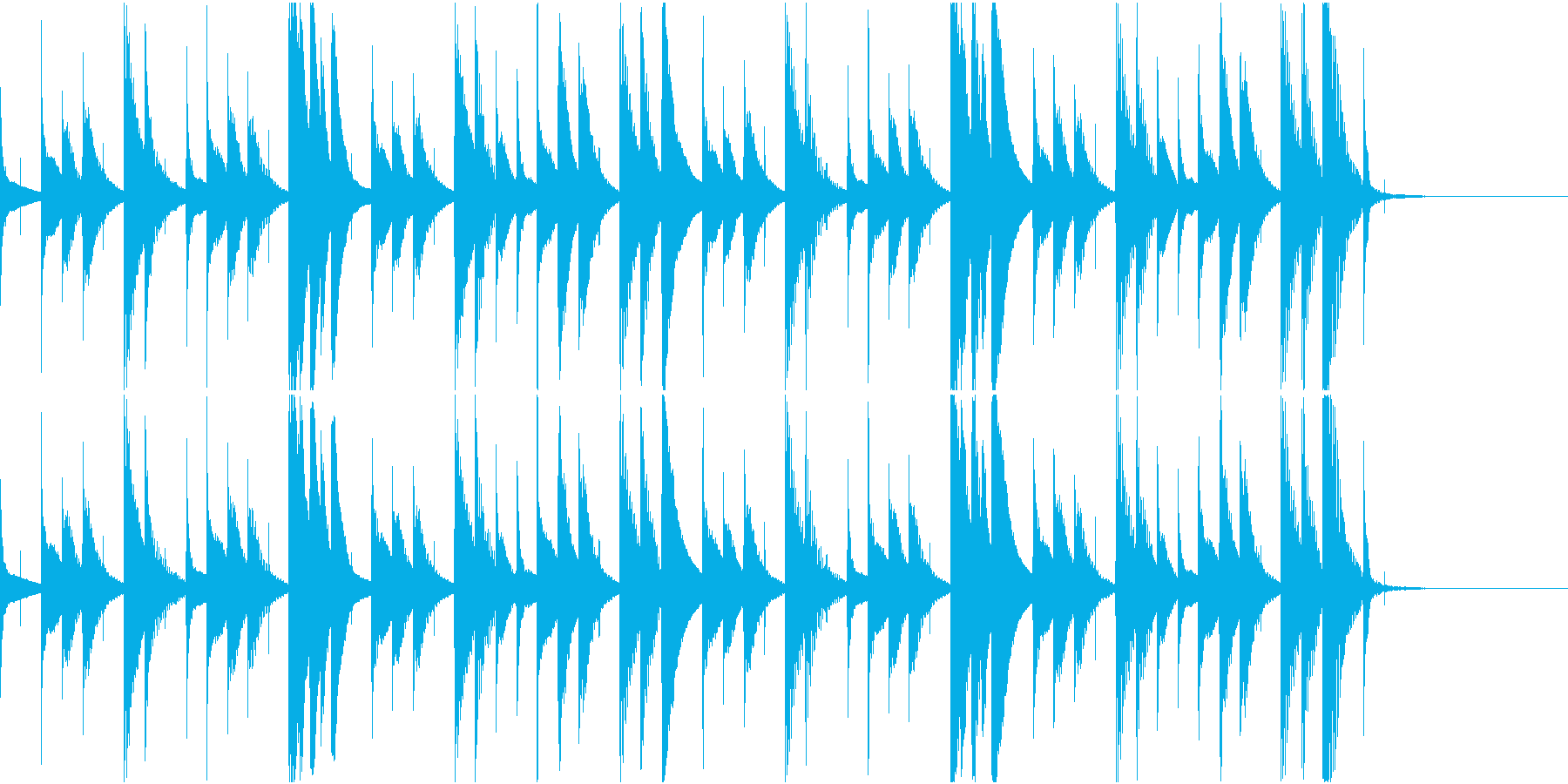 マリンバのほのぼのとしたジングル6の再生済みの波形