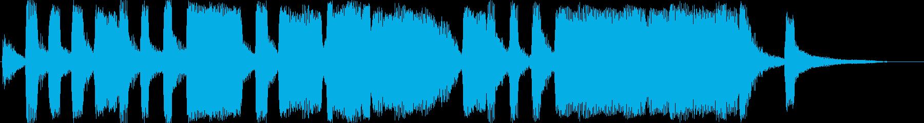 可愛いアイキャッチ風ジングルの再生済みの波形