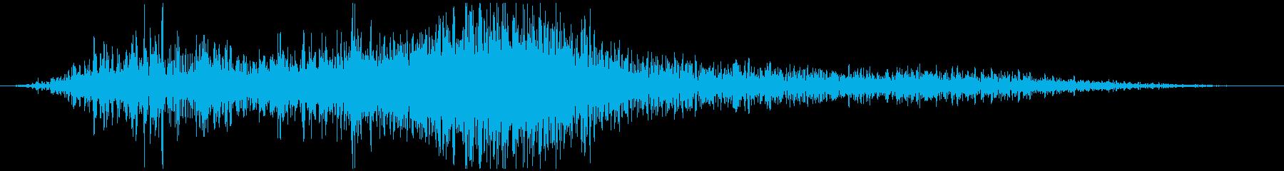 自動車通過音(右から左)の再生済みの波形