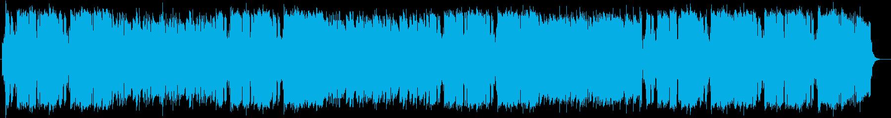 和やかなリラクゼーションミュージックの再生済みの波形