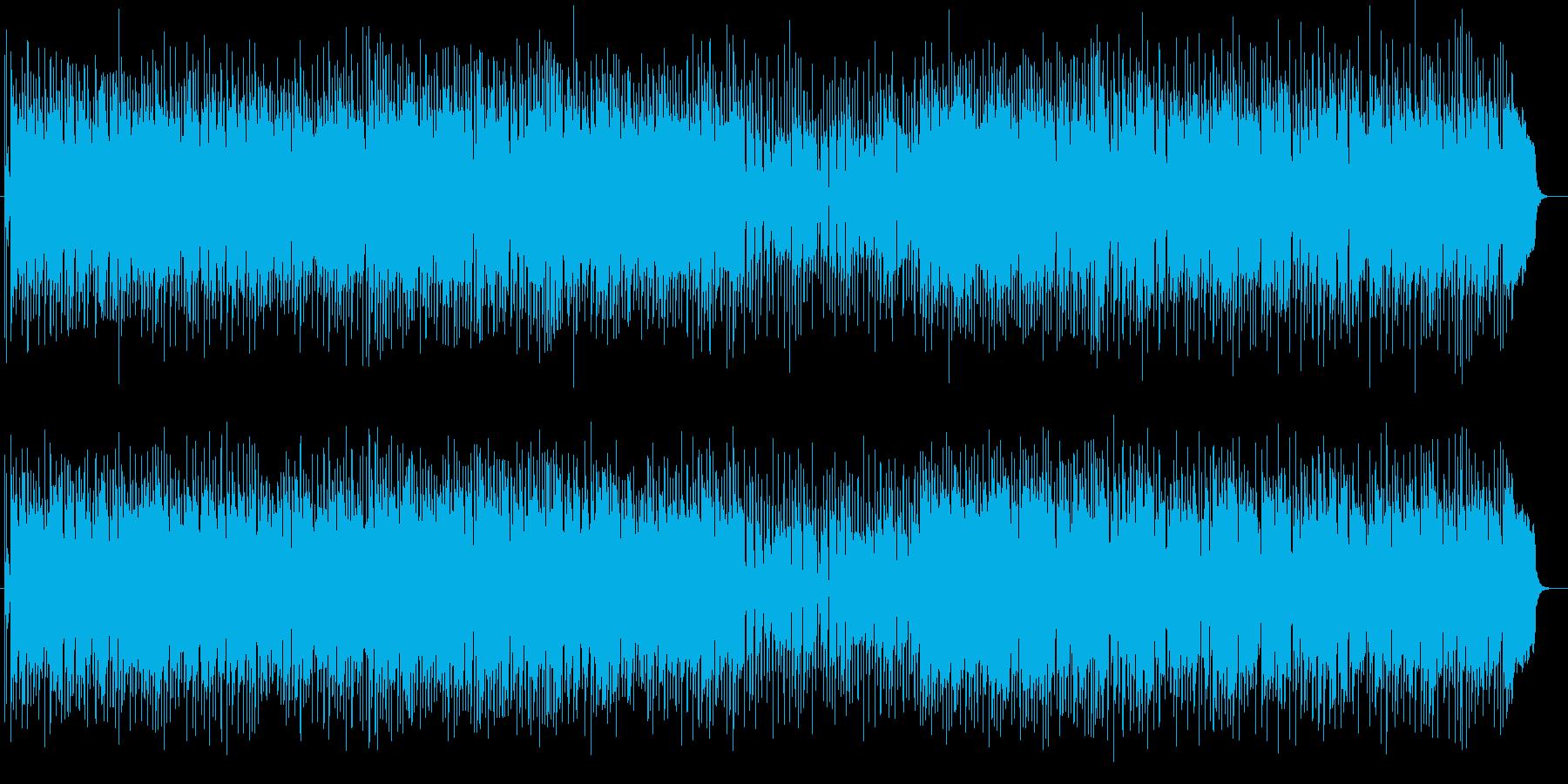 軽快でミディアムテンポが特徴のポップスの再生済みの波形