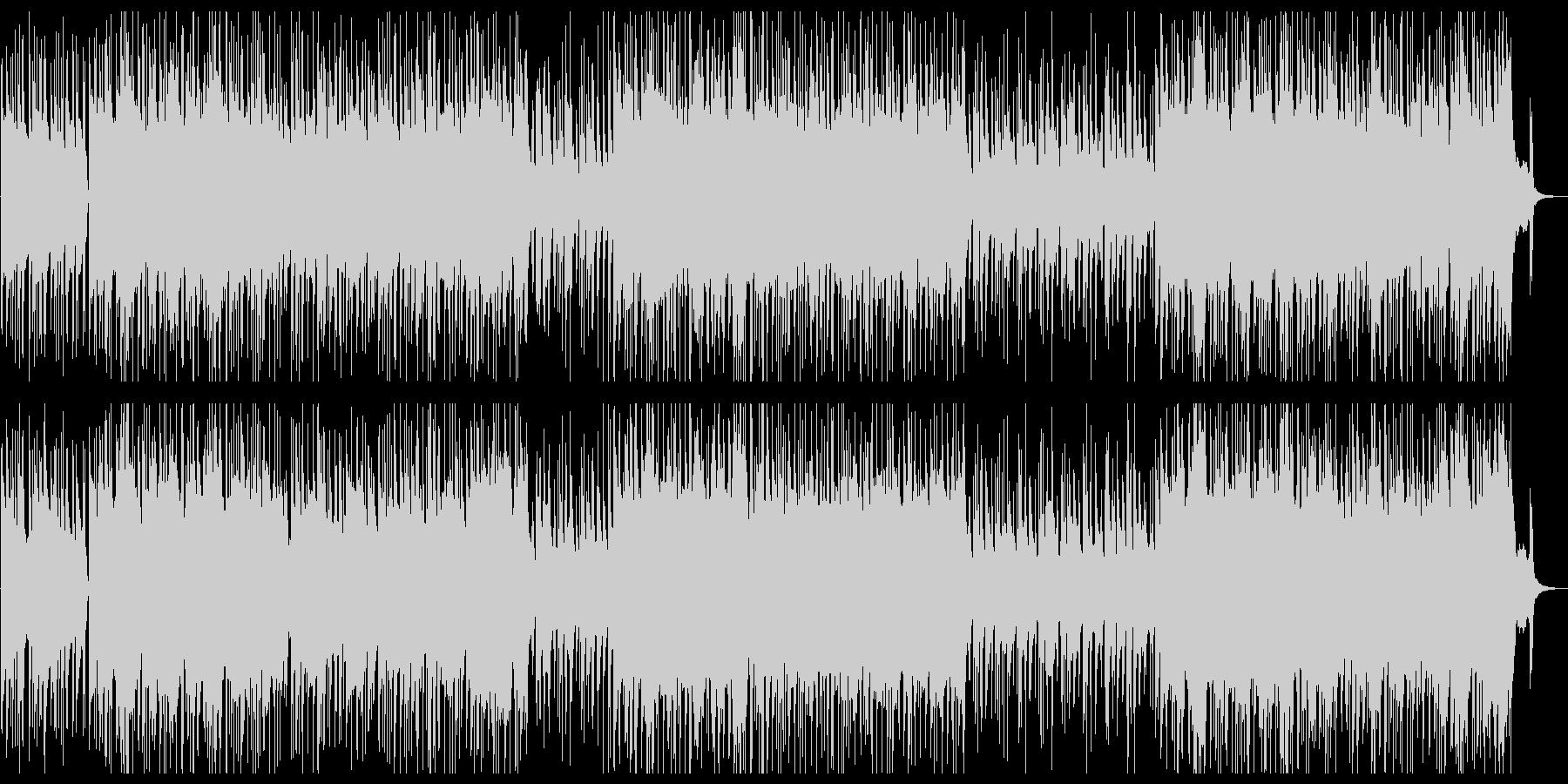 疾走感のある箏のメロディによる和風ロックの未再生の波形