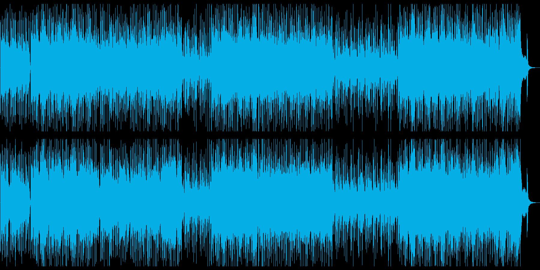 疾走感のある箏のメロディによる和風ロックの再生済みの波形
