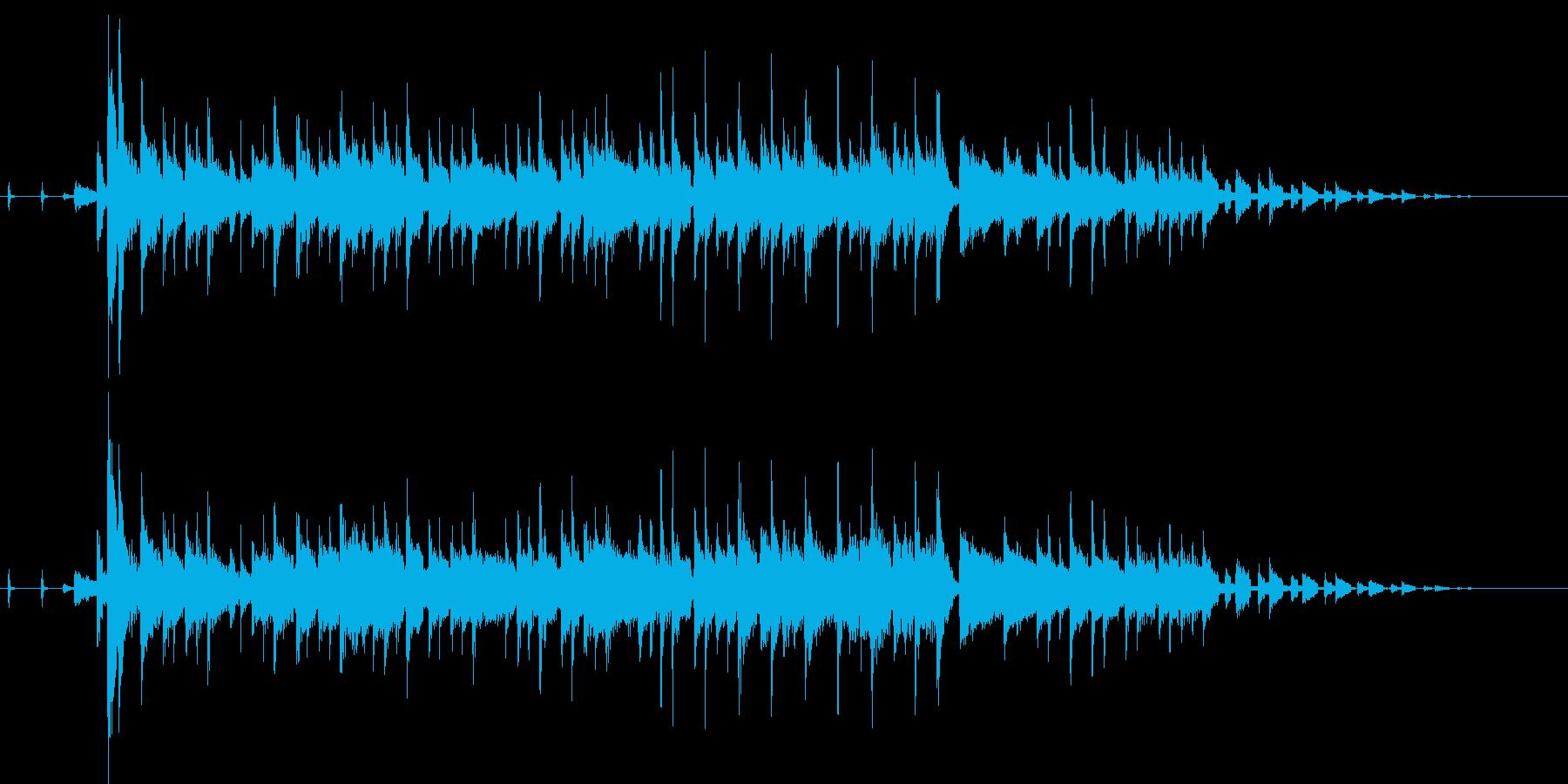 オルガンセッションのジングルの再生済みの波形