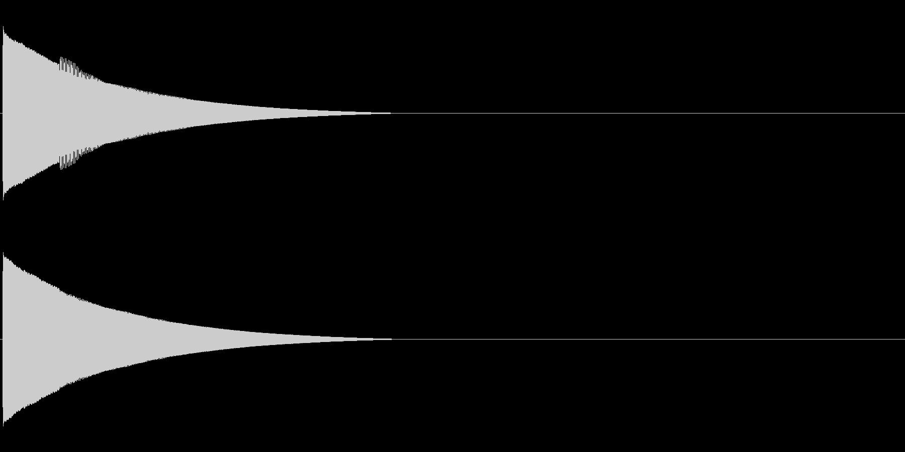 ピローン、ピコーンといった効果音 高いソの未再生の波形