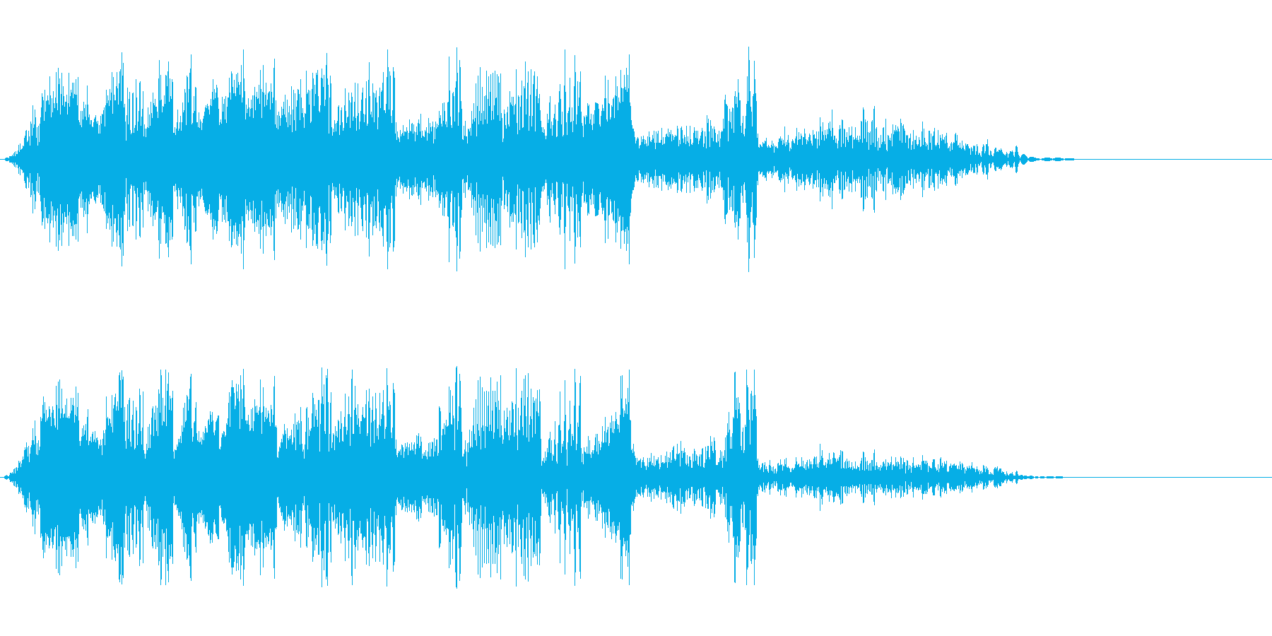 DJスクラッチ01_リバース音01の再生済みの波形